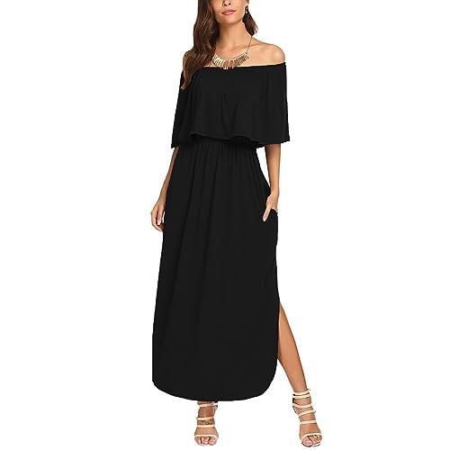 Off The Shoulder Plus Size Maxi Dress: Amazon.com