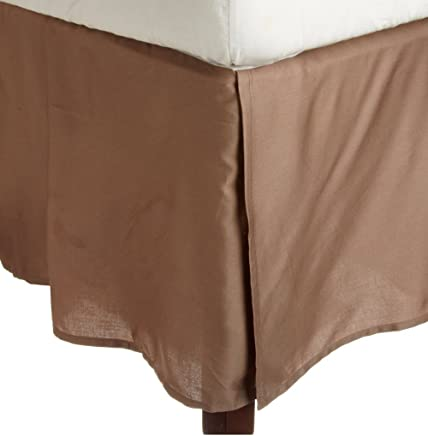 featured product Rajlinen Bed Skirt Genuine Egyptian Cotton 600-Thread-Count (+22 Inch Drop) Long Staple Fiber Bed Wrap with Platform - Easy Fit Style 3 Sided Coverage (Queen ,  Taupe Solid)