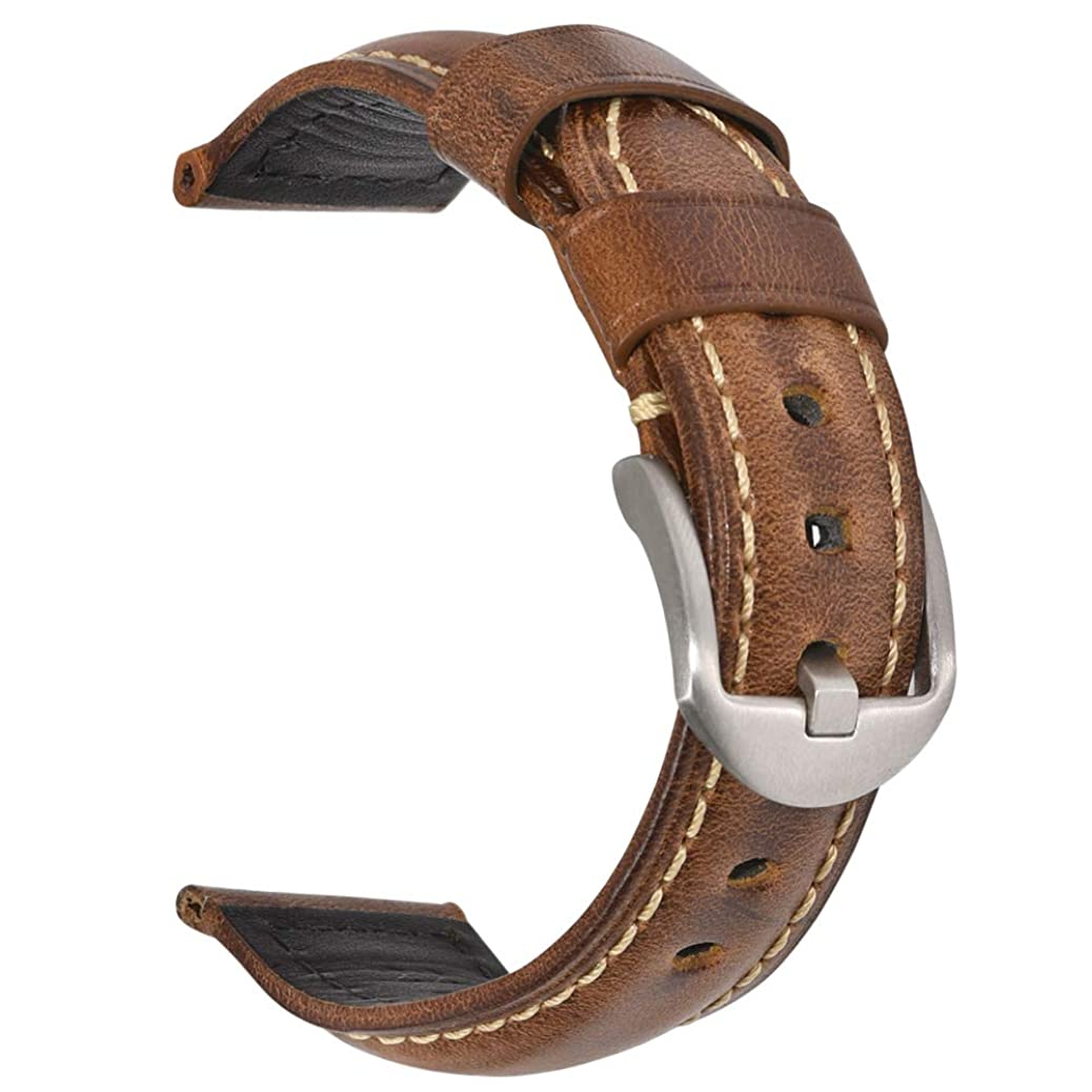 Vintage Leather Watch Band EACHE Watch Strap Oil Wax Genuine Leather Replacement Watchband for Men for Women 18mm 20mm 22mm 24mm cpng3209794310