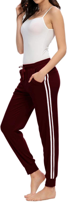 MINTLIMIT Women Casual Pajamas Pants Drawstring Stripes Lounge Pants with Pockets