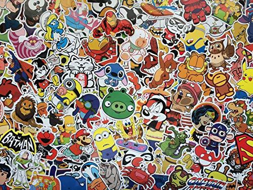 Set von Aufklebern kind, helden, zeichentrickfiguren, tiere, cartoons, comic strip, superheld, videospiele, bumper sticker pack für kinder, laptop, fahrrad, gepäck, skateboard, Vinyl-Aufkleber (100)