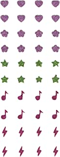 Retail In Spritz Stick-on Glitter Earrings ~ 20 Pairs (Glittery Hearts, Stars, Flower Heads, Music Notes, Lightning Bolts)