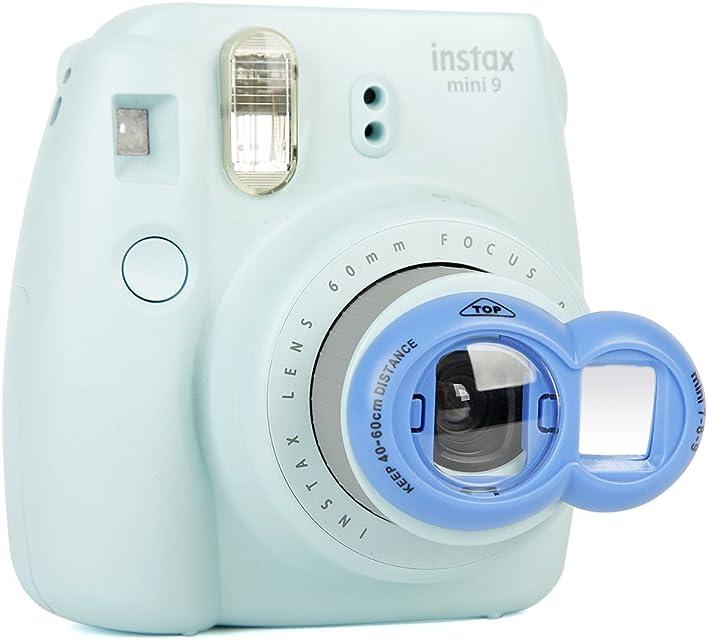 Annle Instax Primer Plano Espejo Selfie para Fujifilm Instax Mini KT/Mini 8/8 + / 9 / 7s / Instant Film Camera (Eight Cobalt Blue)