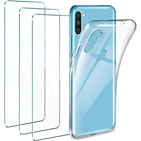 Gnews Coque pour Samsung A11 Housse pour Samsung A11 Coque Transparent Silicone TPU Case Int/égral 360 Degres Full Body Protection Coque Etui pour Samsung Galaxy A11