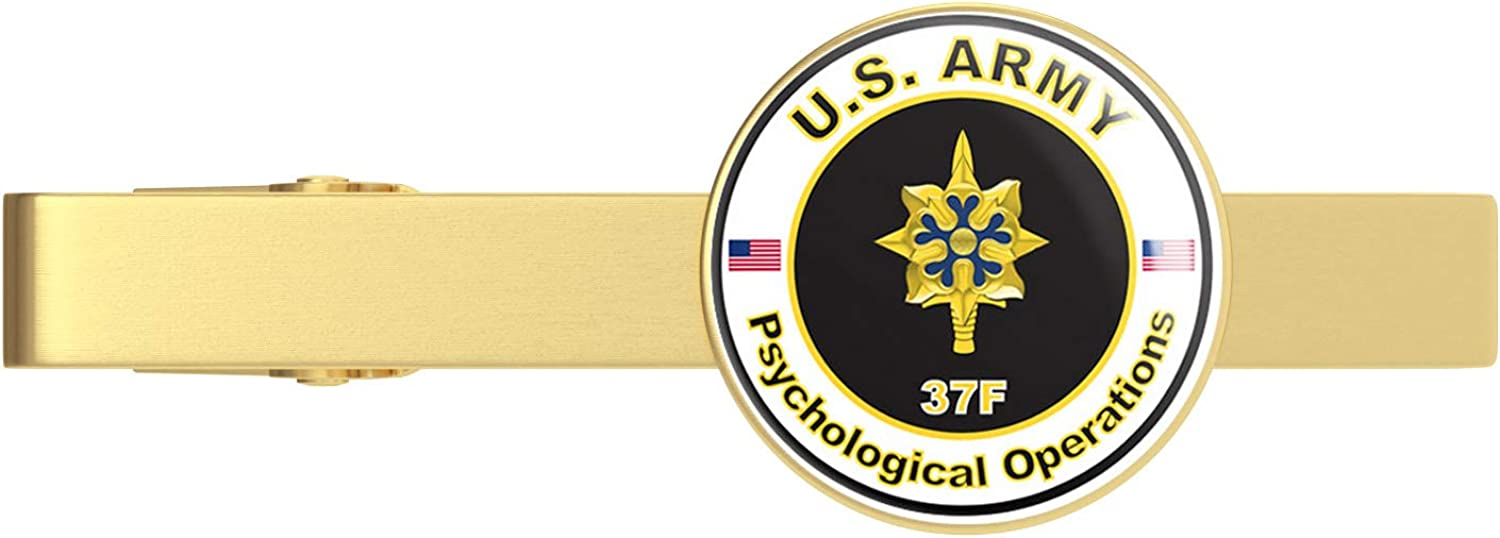 Gold U.S. Army MOS 37F T Max 44% OFF Operations Pshychological San Francisco Mall Clip Tie