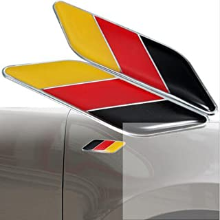 Dsycar 2Pcs/Pair 3D Germany Flag Car Emblem Badge Fit Germany Car Body for Car Styling Decorative Accessories