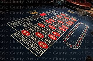 1/2 Sheet - Roulette Table Casino Birthday - Edible Cake/Cupcake Party Topper - D21974