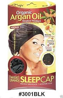 Magic Collection Wide Band Sleep Cap Organic Argan Oil Treated Cap #3001 BLA by Organic