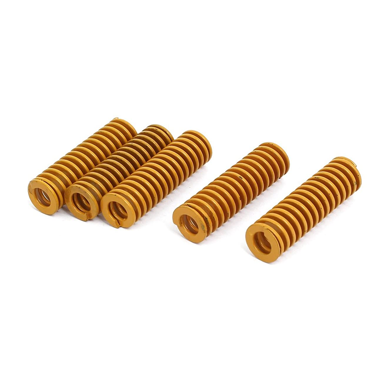 意識的バーター物語uxcell 圧縮金型ダイスプリング 工業用スプリング 最軽量負荷 6.5mm x 12mm x 40mm イエロー 5本入