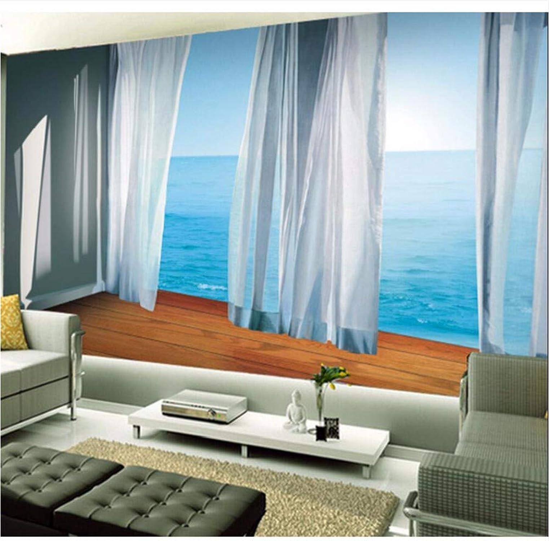 Weaeo Gran Papel Tapiz Fotográfico Balcón Mural 3D Sala De Papel De Parojo Landscap3D Murales De Parojo 3D Fleur Decoración Del Hogar Terraza-200X140Cm