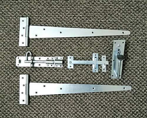 46 cm Paar T-Scharniere Holz Tor Suffolk Montageset Gartentor Set 450 mm – Zink