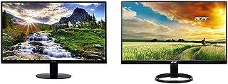 Acer SB220Q bi 21.5 Inches Full HD (1920 x 1080) IPS Ultra-Thin Zero Frame Monitor (HDMI & VGA Port),Black & R240HY bidx 23.8-Inch IPS HDMI DVI VGA (1920 x 1080) Widescreen Monitor, Black