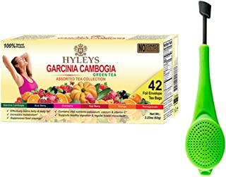 Hyleys Garcinia Cambogia Assorted Tea Collection - 42 Tea Bags with a Tea Infuser