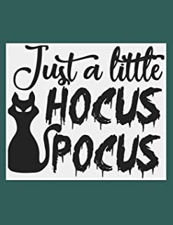 Just A Little Hocus Pocus: Great Halloween Coloring And Sketchbook for Primary School Kids 5 To 7 Years Old With Big Not-So-Scary Pictures To Trace, Color, Sketch, Paint, Doodle And Draw