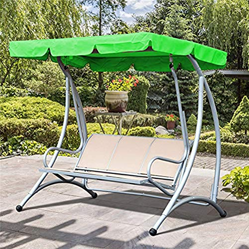 Luifels Vervanging Canopy, Vervanging Canopy Voor Swing Seat 2 & 3 Zits Maten Tuin Hangmat Cover -195 * 25 * 15Cm,Green