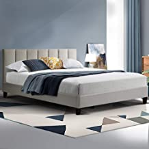 Artiss Anna Bed Frame Fabric - Beige Queen