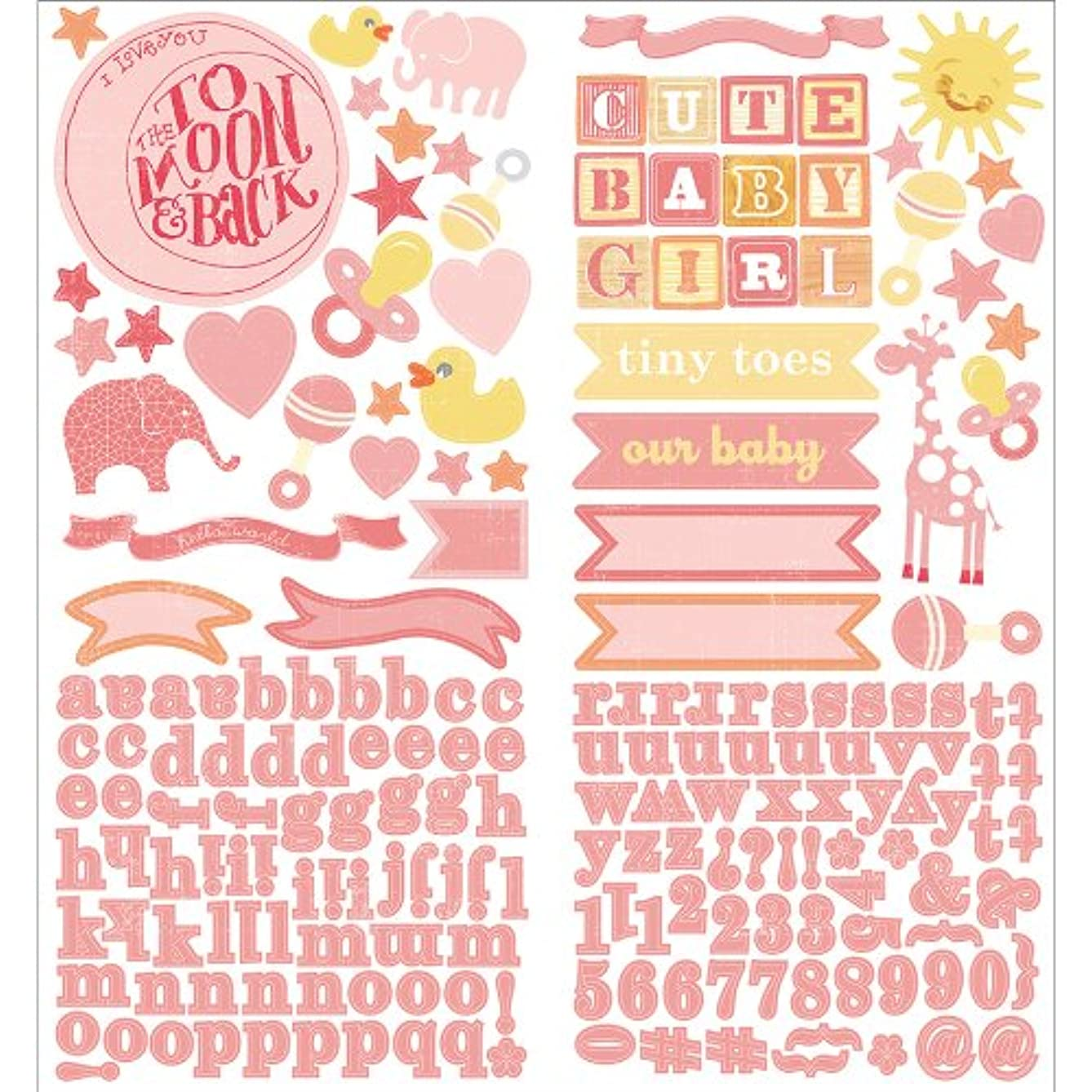 Studio Calico Story Time Girl 2-Sheet Cardstock Stickers, 6 by 12-Inch, Accent and Alpha