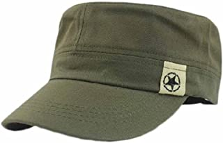 8358542104eeb Unisexe Chapeau Militaire Casquette de Coton Vintage Réglable Couleur Unie  pour Alpinisme Randonnée Cyclisme en