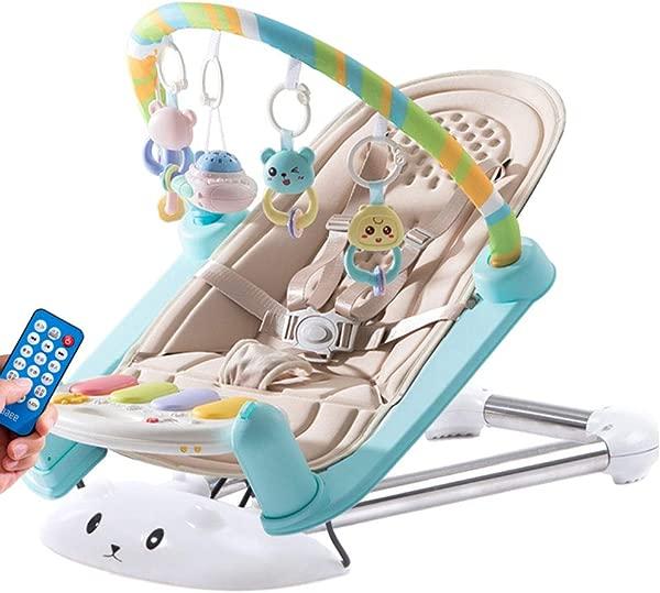 Baby Rocking Chair Baby Comfort Recliner Shake Blue Bed Sleepy Baby Artifact Lightkhaki Charging