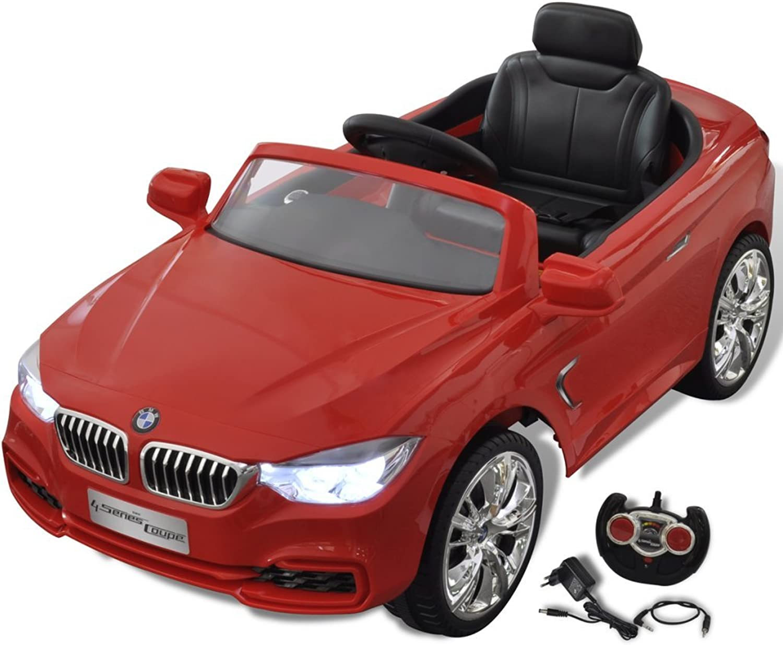 VidaXL Kinderauto mit Fernbedienung Rot Kinderfahrzeug Elektroauto Cabriolet