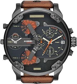 Diesel Mr. Daddy for Men - Analog Leather Band Watch - DZ7332