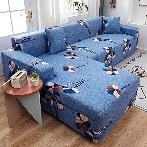 ASCV Funda de sofá para sofá de Todos los tamaños Funda de sofá elástica Universal para Sala de Estar Protector de Cubierta Decorativa A9 2 plazas