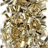 Yellow Silver Solder Chips Ultra Tiny Precut Pieces 0.5mm X 1mm X .25mm (Qty=1500)'Medium' Density