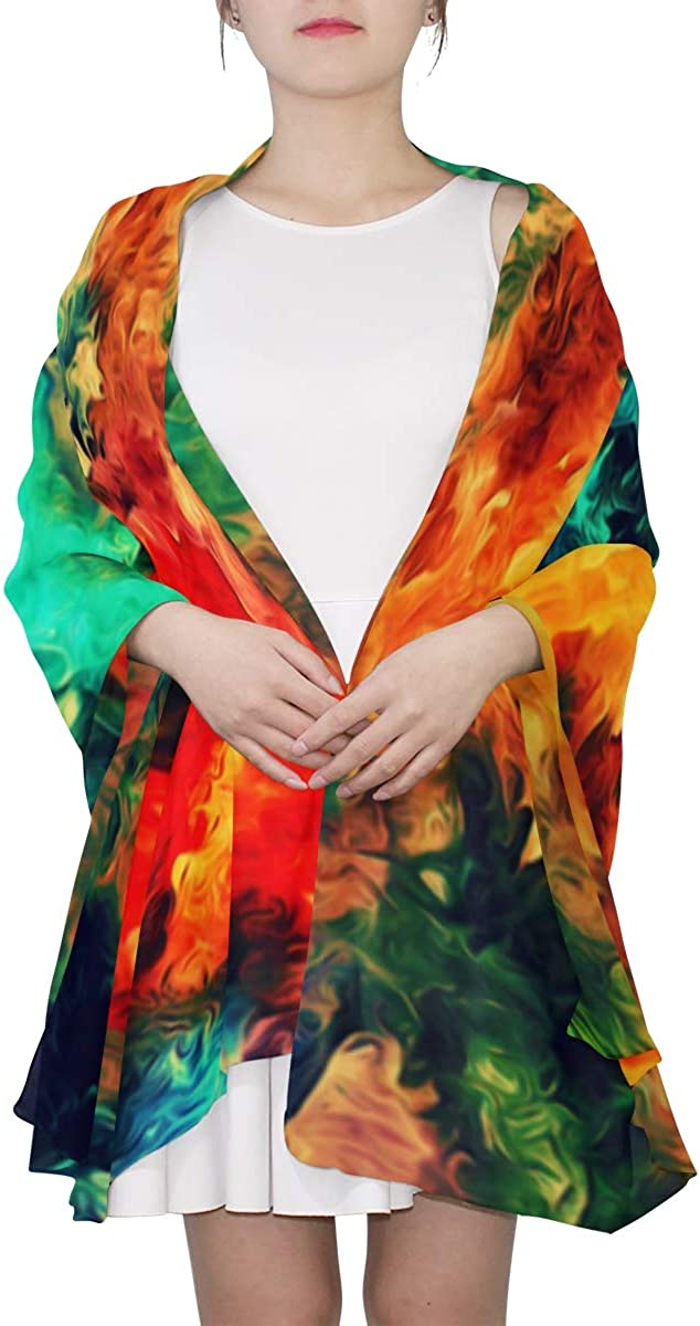 Abstract Texture Painting Unique Fashion Scarf For Women Lightweight Fashion Fall Winter Print Scarves Shawl Wraps Gifts For Early Spring