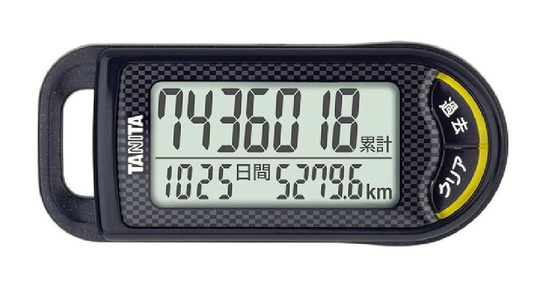 祝福銃入学するタニタ 3Dセンサー搭載歩数計 旅のおとも ブラック FB-733
