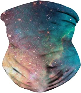 QoGoer Seamless Bandanas Headband Multifunctional Balaclava Scarf for Dust Protection Outdoors Festivals Sports
