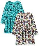 Spotted Zebra Disney Star Wars Frozen Princess Knit Long-Sleeve Play Dresses Vestido, Paquete de 2 Iconos de Marvel, S