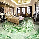 Fotomurales Papel Pintado Photo Floor Wallpaper Jade Gourd Lucky Character Style Relief Hotels Floor Pvc Self-Adhesive Murals Wallpaper-450Cmx300Cm