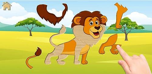 """""""Los animales divertidos # 2"""" - los niños rompecabezas para niños pequeños. Puzzles juegos niños 2-4 años."""
