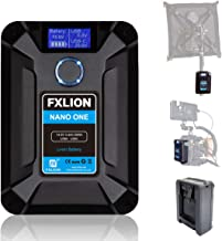 FXLION Nano ONE V Mount/V-Lock Battery 13600mAh(50Wh/14.8V) with D-TAP,USB-C,USB-A, Micro USB Plugs, 310g Mini Power Bank for Cameras, Camcorders,Large LED Lights, Monitors, MacBook and Smartphone