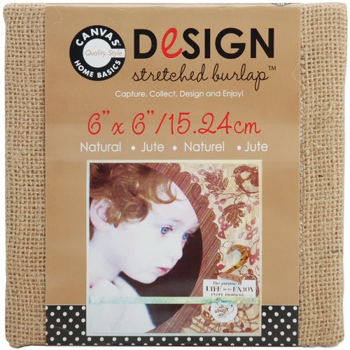 Canvas Corp 6-Inch by 6-Inch Jute Stretched Natural Burlap