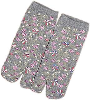 Calcetines de estilo japonés con sandalias con punta dividida Tabi Ninja Geta Calcetines de geisha para mujer, S-05