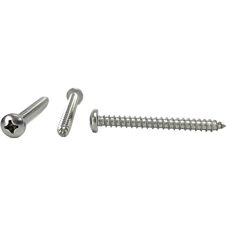 #14 x 2-1//2 Sheet Metal Screws Truss Head Phillips Stainless Steel Qty 25