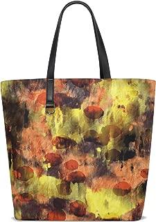 Women Dot Grunge Paint Colorful Texture Handle Satchel Handbags Shoulder Bag Tote Purse Messenger Bags