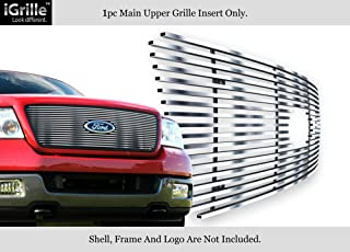 APS Compatible with 2004-2008 Ford F-150 Honeycomb Style Upper Stainless Billet Grille Insert F65727S