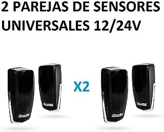 2 X Juego fotocelulas universal de rayos infrarojos, tipo emisor-receptor para puerta automatica