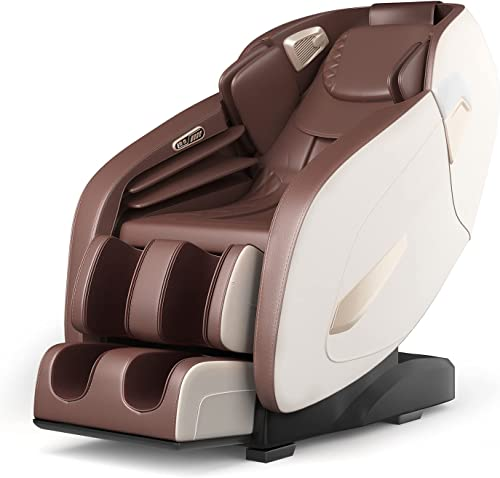 new arrival Giantex Full Body Massage Chair, SL Track Massage Recliner Electric Zero Gravity W/Airbags, Back Heater, Foot Roller, Auto wholesale Body Detector, Adjusting popular Shiatsu Full Body Massage Chair G002 (Coffee) outlet online sale