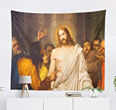 Suesoso Jesus Tapestry,Venezia Venice Italy February Jesus Christ with and Hanging Wall Decor,60 X 80 Inches Hang Wall Art for Home Decor(Venezia Venice 01)