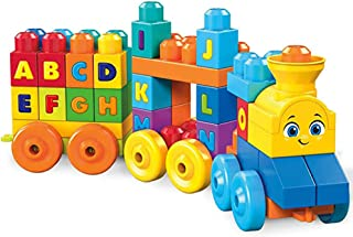 WXX Lego 50 Pieces of Building Blocks Music Alphabet Learning Train Set Children's Puzzle Assembled Toys Birthday