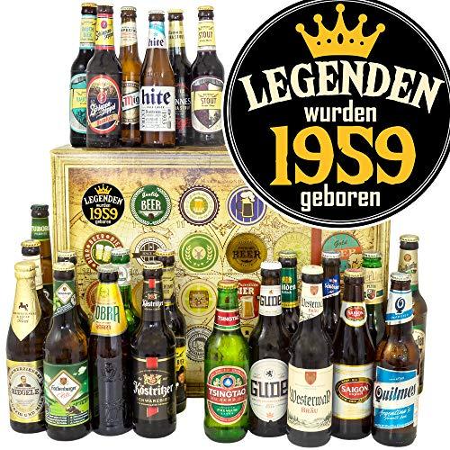 Legenden 1959 / Bier aus aller Welt und D 24x / Jahrgang 1959 Geschenk/Advent Kalender Bier