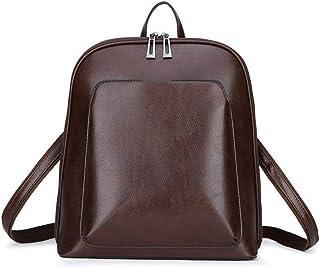 SssabInnasnsdjb حقائب ظهر نسائية جلدية حقائب ظهر نسائية للسفر حقيبة كتف حقائب يومية كاجوال للسيدات (اللون: نحاس)