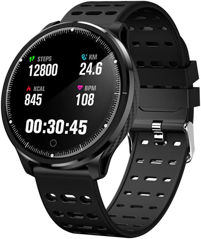 JingJingQi Fitness-TrackerP71 Smartwatch Mnner Frauen IP68 wasserdichte Herzfrequenz Blautdruckmessgert Sport Schlaf Tracker Smart Watch VS L5 S226, voll schwarz