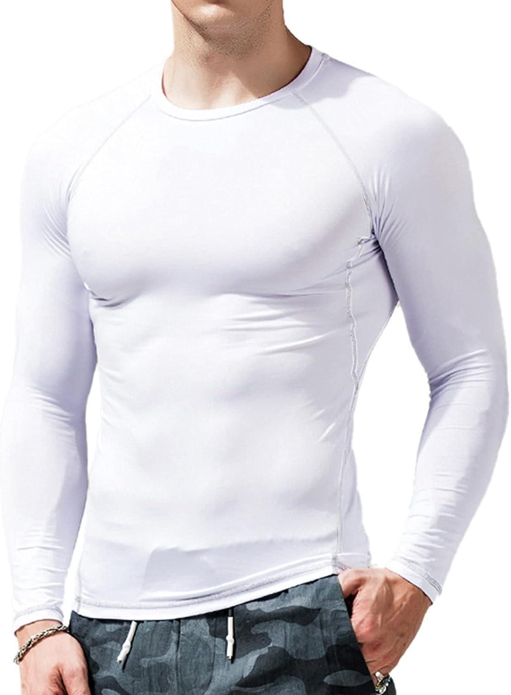 Huangse Men's Sun Protection Shirts Long Sleeve Cooling Running Shirts Lightweight UPF 50+ Dry Fit Workout Hiking Shirt
