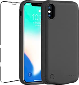 Battery Case for iPhone X/XS,2021 Newest[7000mAh] mAh Portable Protective Charging Case Extended Rechargeable Battery Pack Charger Case Compatible with iPhone X/XS(5.8 inch Black)