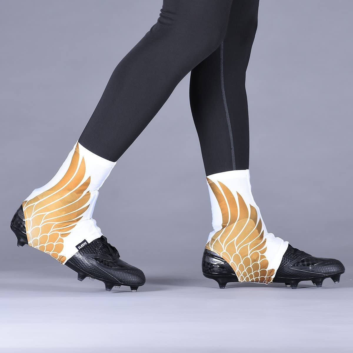 Icarus White Gold Spats/Cleat Covers
