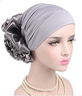 3f2a2b6d1f9ff2 Women Big Flower Elastic Turban Beanie Head Wrap Chemo Cap Hat
